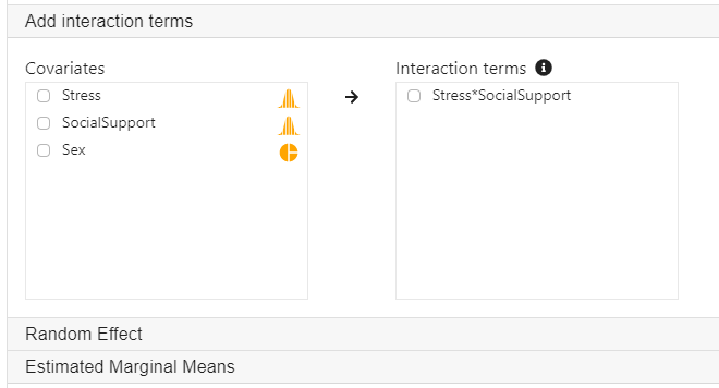 add interaction terms